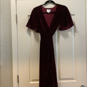 Maroon  high low dress. Worn once for pictures